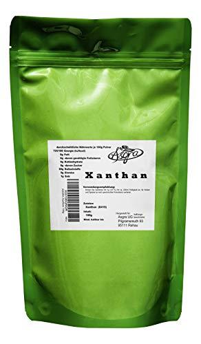 100g Xanthan - E415 - mind. 1 Jahr MHD - Bindemittel für gutes Gelingen - Backen und Kochen wie die Profis - im praktischen Beutel mit Zip-Verschluß - von Asgra