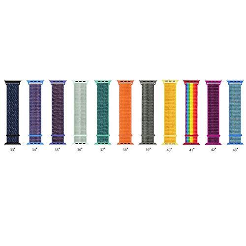 MeterMall stijlvolle sport nylon weven vervanging riem polsband voor Apple horloge 1/2/3/4 38/40mm 42