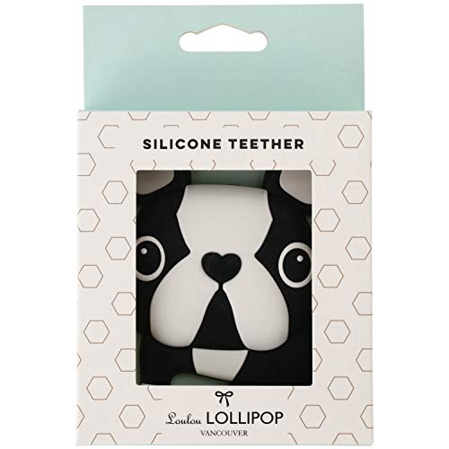 Loulou Lollipop(ルルロリポップ) シリコン歯がため【日本正規品】おしゃぶり おもちゃ Bテリア LL-T-DOGBLK