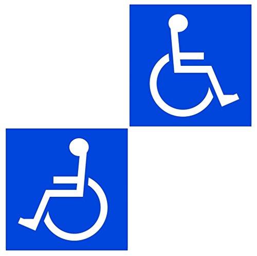 SSC 車椅子ステッカー 身障者用設備・障害者用設備 車いす 車イス 車両等への貼付に最適 障害用設備ありの標識/マークにも 右向き・左向き2枚セット/200×200mm qb600030c03n0