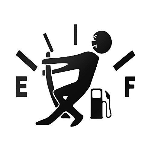 EROSPA® KFZ Auto-Aufkleber - Tanknadel - Car-Sticker (Schwarz)