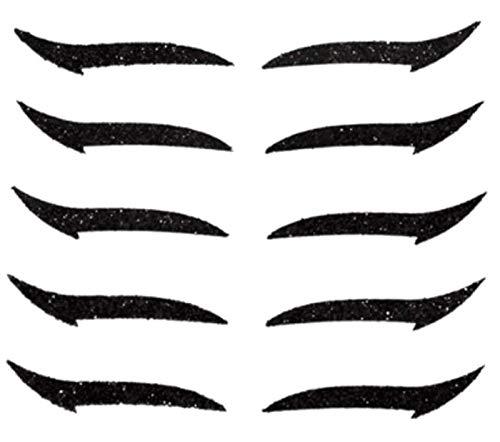 HAVAJ 5 pares de pegatinas de delineador de ojos, reutilizab