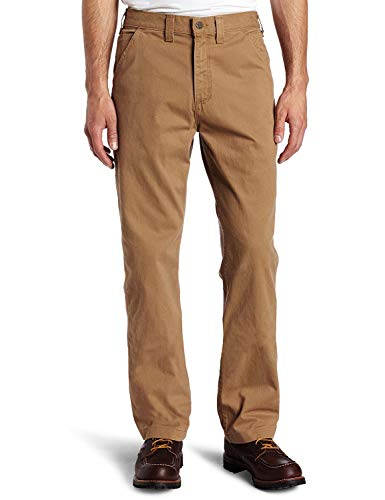 Carhartt Men's Relaxed Fit Washed Twill Dungaree Pant, Dark Khaki, 34W X 34L