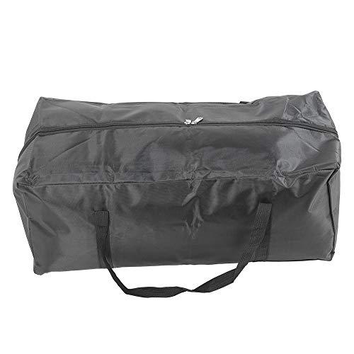 Bolso de mano portátil negro 600D Oxford paño portátil lavable impermeable bolsa de transporte para barco de pesca