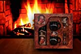 Feuerzangentasse Geschenkset black - Wurzelholz-Design
