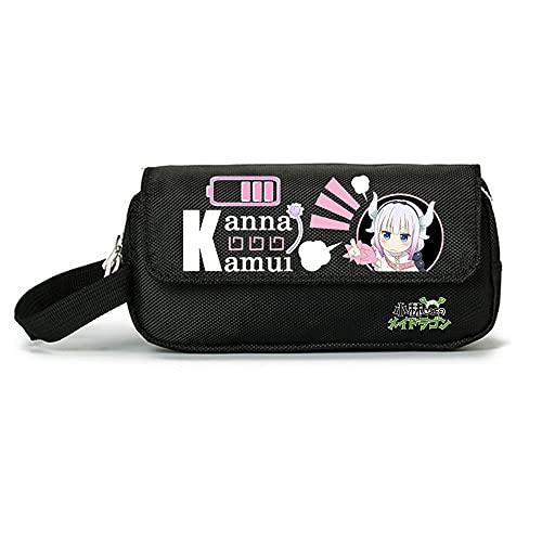 LKYCC Miss Kobayashi's Dragon Maid Estuche Grande Para Niños Y Niñas Bolsillos Con Grandes Compartimentos Para La Escuela De Papelería Estuche Para Lápices Películas 20CMX10CMX7CM