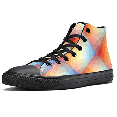 LORIES - Zapatillas de deporte para hombre con diseño geométrico, (multicolor), 46 EU