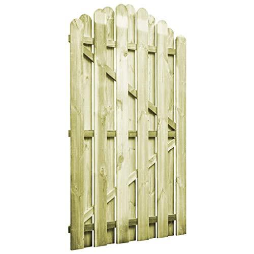 Tidyard Gartentor Hoftor Imprägnierte Kiefer 100 x 150 cm Gewölbtes Design Holzgartentor Zauntor Gartentür Zauntür Gartenzaun Holz Garten holztor für Garten oder Terrasse