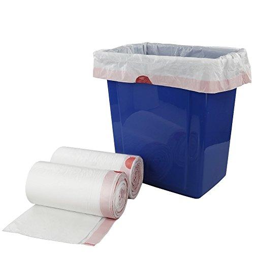 Doryh 7 Gallon White Drawstring Trash Bags, Medium Garbage Bags, 2 Rolls/120 Counts