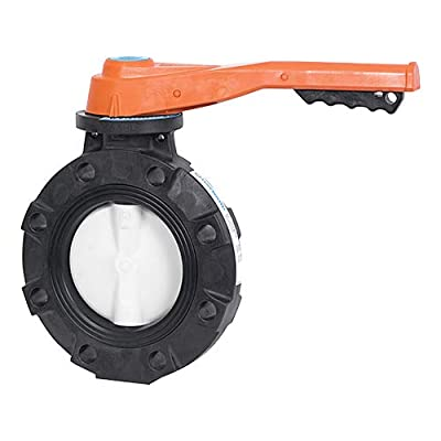 "Hayward BYV44080A0EL000 Series BYV Butterfly Valve, Lever Operated, GFPP Body, GFPP Disc, EPDM Seals, 8"" Size from Hayward Industries"