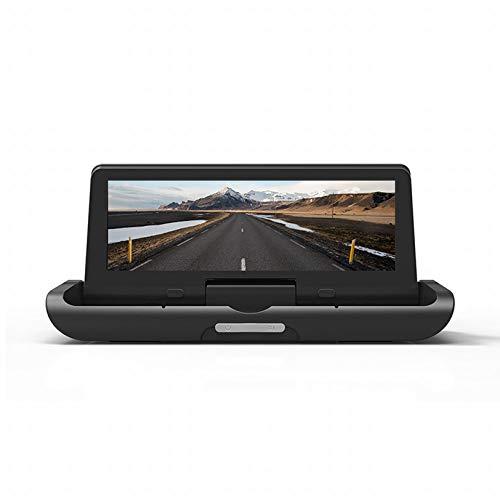 WHL.HH Androide 8.1 Auto DVR 8 Pulgadas DVR 4G FHD 1080P Video Grabadora GPS Navegación ADAS Remoto Monitor Pizca Leva Doble Lente