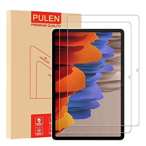 [2 Stück] PULEN Panzerglas Schutzfolie für Samsung Galaxy Tab S7(11 inch) [9H Festigkeit][Anti-Kratzen] [Anti-Bubble][Anti-Fingerabdruck][HD] Klar folie