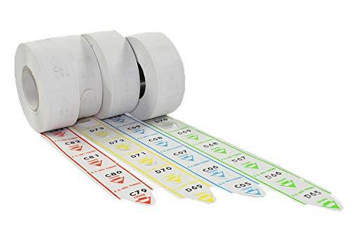 5 rotoli da 2000 tickets per eliminacode coda di rondine alfa numerate