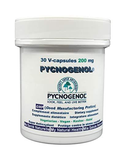 PYCNOGENOL 200 mg (Pro Kapsel) 30 pflanzliche Kapseln (Dosierung bis 2 Monaten) – Extrakt Rinde des Kiefer Maritime die wächst auf die Küsten sablonneuses im Süden von Bordeaux