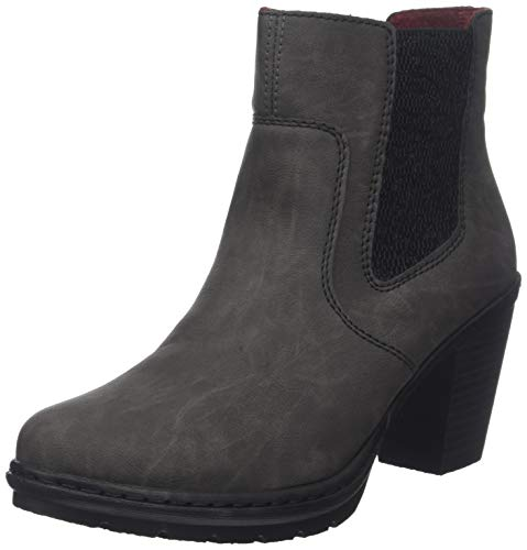 Rieker Damen Y1574 Chelsea Boots, Grau (Fumo/Schwarz 45), 40 EU