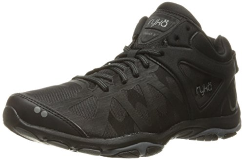 Ryka Women's Enhance 3 Cross-Trainer Shoe, Black/Grey, 8.5 M US