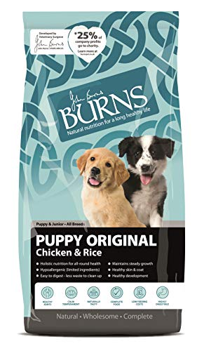 Burns Pet Nutrition Hypoallergenic Complete Dry Dog Food Puppy Original Chicken and Rice 12 kg