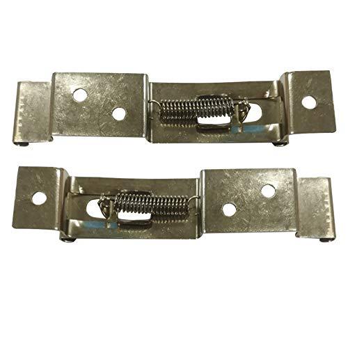 2 clips para matrícula de coche, soporte de resorte para camión, coche, remolque, 2 unidades