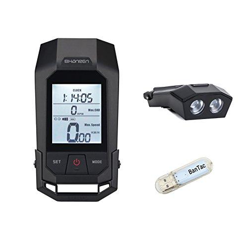SHANREN Raptor II - Luz Delantera para Bicicleta, GPS, 2 en 1, Doble Uso, 300 Lúmenes, USB, Recargable, Resistente al Agua, para Bicicleta, GPS inalámbrico, con luz USB BanTac