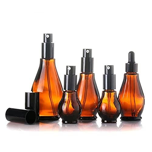 Bottiglia contenitore Vuoto spray bottiglia ambra vetro viaggio all aperto riutilizzabile portatile ricaricabile shampoo per profumo liquido atomizzatore bottiglie spray ( Specifications : 100ml )