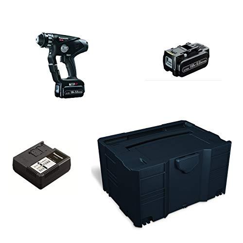 Panasonic EY78A1LJ2G drill Schwarz 2,55 kg - Drills (4750 BPM, 1250 RPM, Batterie/Akku, 2 Stück(e), Lithium-Ion (Li-Ion), 18 V)