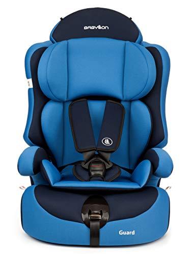 BABYLON silla bebe coche Guard silla de coche grupo 1 2 3, silla de bebe para coche Niños 9-36 kg silla coche bebe(1 a 12 años). silla coche sin isofix fabricada en Europa ECE R44 /0 azul