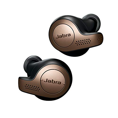 Jabra Elite 65t – True Wireless In-ear Kopfhörer mit Passive Noise Cancellation – Mit 4 Mikrofon-Technologie – Kupfer/ Schwarz