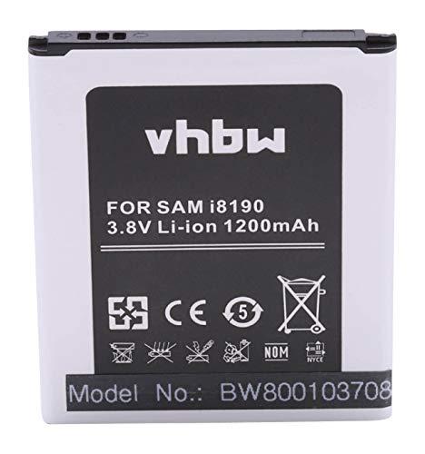 vhbw Li-Ion batería 1100mAh (3.7V) para teléfono móvil Smartphone Samsung Galaxy GT-S7562i, GT-S7568, GT-S7572, GT-S7580 y EB425161LU, EB-F1M7FLU.