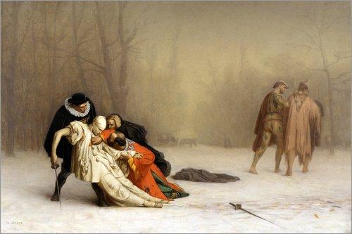Pster 91 x 61 cm: The Duel After The Masquerade de Jean Leon Gerome - impresin artstica, Nuevo pster artstico