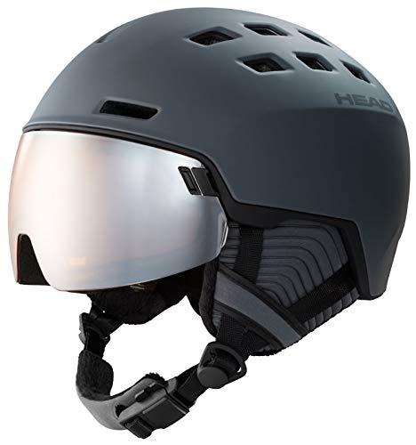 HEAD Radar, Casco da Sci e Snowboard Unisex-Adulto, Grigio, XL XXL