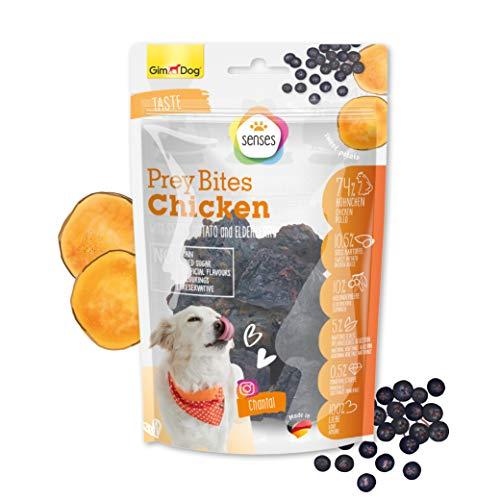 GimDog SENSES Prey Bites - Getreidefreier Hundesnack mit hohem Fleischanteil und gesundem Gemüse - 1 Beutel (1 x 100 g)