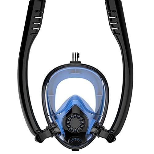 Froiny Tubo De Doble Tubo Respirador De Respiración Snorkel Piscina Mascarilla Anti-Niebla Anti-Fugas Gafas De Buceo