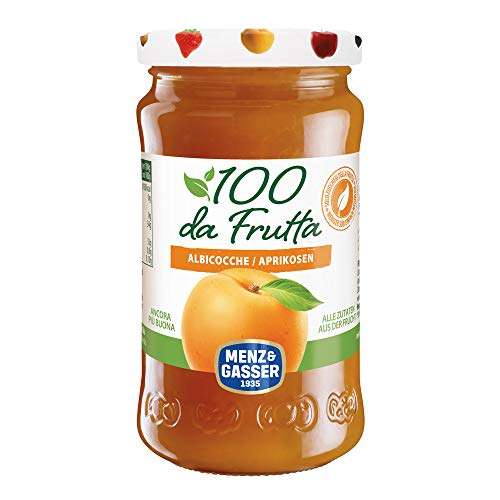 MENZ&GASSER Composta 100Dafrutta Albicocca, 100% Frutta, 1 Vaso X 240G - 240 gr