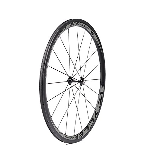 VCYCLE Nopea 700C 38mm Kohlefaser Rennrad Laufradsatz Drahtreifen 23mm Breite Shimano oder Sram 8/9/10/11 Speed (Vorderrad)