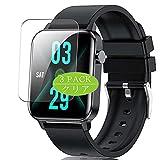 VacFun 3 Piezas Claro Protector de Pantalla, compatible con Judneer Andfive TS11 1.4' Smartwatch Smart Watch, Screen Protector Película Protectora(Not Cristal Templado)