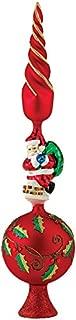 Kurt Adler Glass Santa Claus Design Treetop, 16-Inch