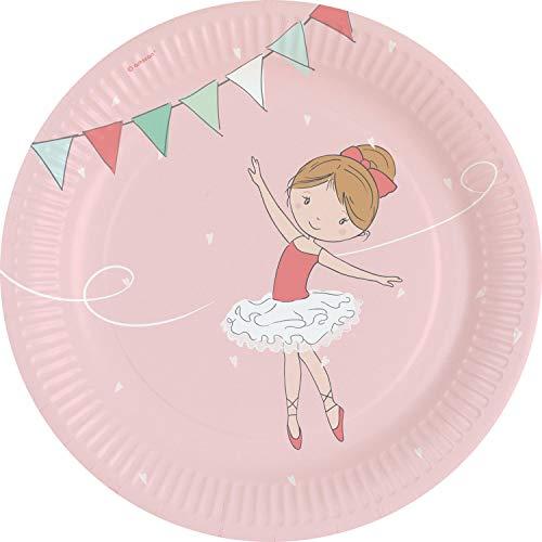 amscan 9903945 8 Papierteller Little Dancer, Mehrfarbig