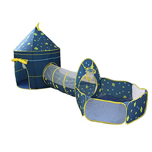 Henai Kids Pop up Play Tents: 1 Crawl Tunnels + 1 Castle + 1 Large Children Playhouse Ball Pit for Boys Girls Toddlers fabulous