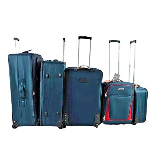 Super Lightweight Durable Hold Travel Luggage Trolley Suitcase (Navy, 29)