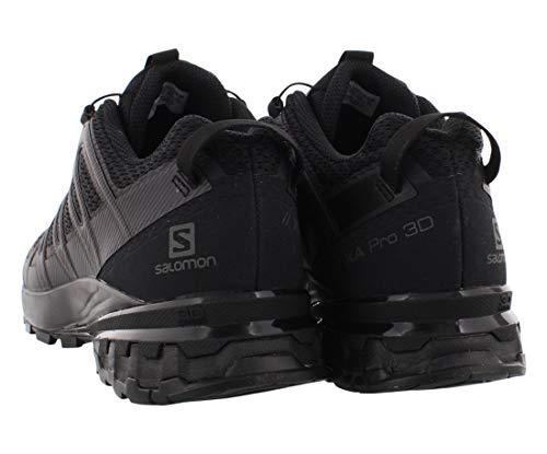 Salomon Zapatilla de hombre XA PRO 3D v8 con 3D Advanced Chassis para trail running, Negro (Black/Black/Black), 40 EU