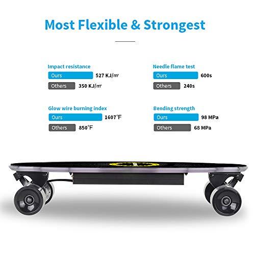 Elektro Skateboard Spadger D5X mit LED-Licht Bild 3*