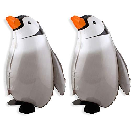 YeahiBaby 2 globos Airwalker con forma de animal, para cumpleaños, fiestas, decoración, juguete para niños, regalo de pingüino