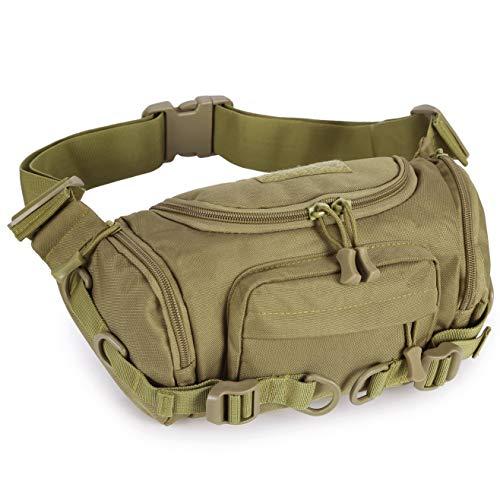 Selighting Taktische Bauchtasche Militär Gürteltasche Hüfttasche für Outdoor Sport Trekking Wandern Laufen Radfahren (Braun)