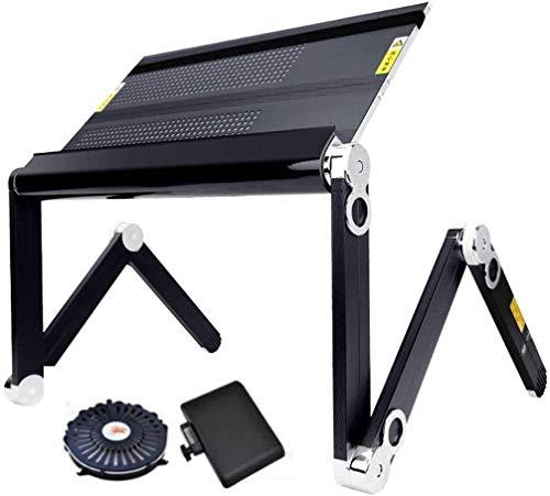 Mesas Plegables Portátiles Modernas Mesas De Estudio Portátil De Escritorio De La Computadora Simples Desk Laptop Stand Folding (Color : Black)