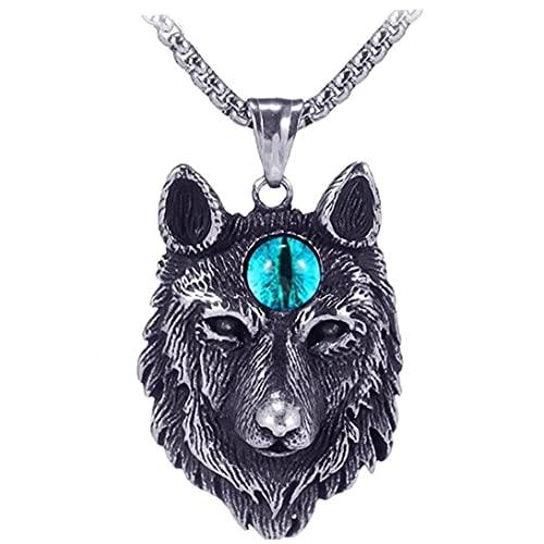 Personalidad 1pc Jefe Pendiente Tallado Amuleto De Mujeres De Acero Inoxidable De Los Hombres Collar Animal De Y