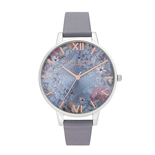 Olivia Burton Damen Analog Quarz Uhr mit Edelstahl Armband OB16US09