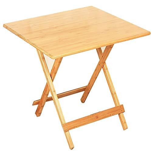 TLMY Mesa Plegable, Mesa de Comedor Simple for el hogar al Aire Libre, Libro de Escritorio de computadora Cuadrado Mesa Plegable (Size : 80x80x75cm)