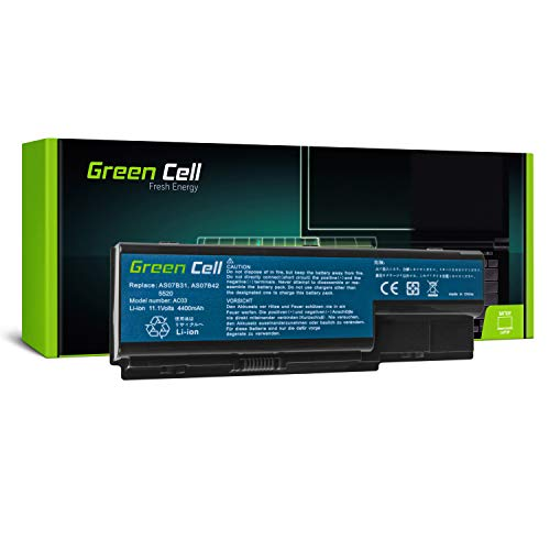 Green Cell Standard Series AS07B31 AS07B32 AS07B41 AS07B42 AS07B51 AS07B52 AS07B61 AS07B71 JDW50 Battery for Acer/eMachines/Packard Bell Laptop (6 Cells 4400mAh 10.8V Black)