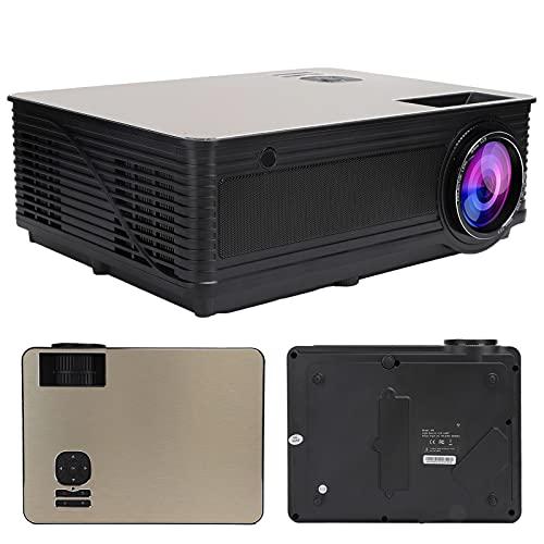 CCYLEZ Proyector de teléfono móvil HD, proyector WiFi inalámbrico Inteligente LCD, proyector 1080P con diafragma de Graves para teléfono Inteligente/Tableta/computadora portátil / PS3 / PS4 / TV(EU)