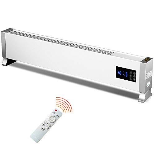 LIZONGFQ Baseboard Heizung 2000W Fast Plus mit Fernbedienung Heiß Aluminium Strahlung Heizung Smart Timing Haushalt Energiesparende Heizung